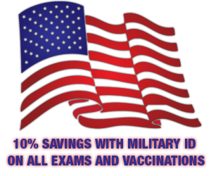 10% savings with Military ID 